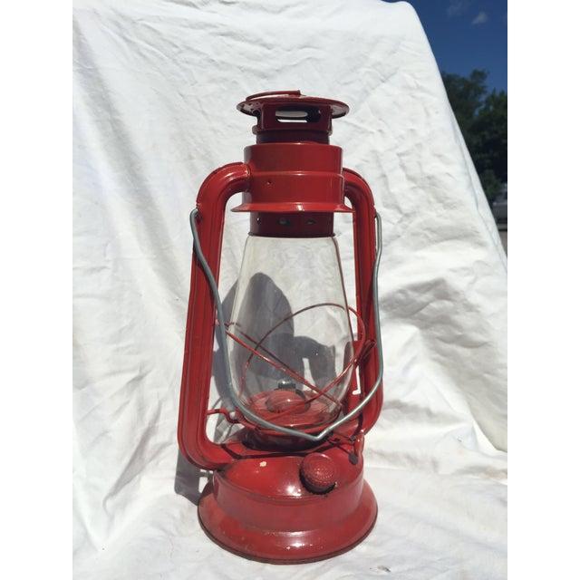 Vintage Red Camping Lantern - Image 2 of 4