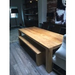 Image of Reclaimed Russian Oak Parsons Table and Bench