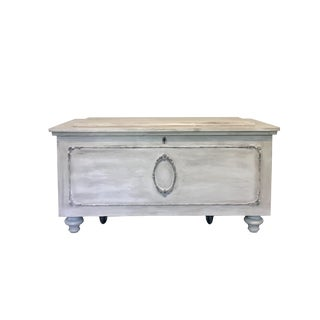 Vintage Painted Cedar Chest
