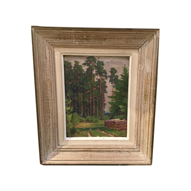 Vintage French Landscape Painting - Image 1 of 4
