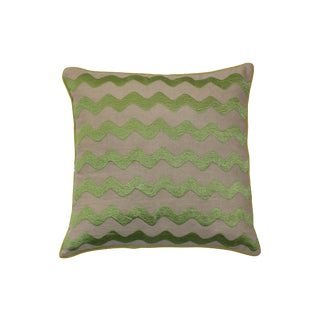 Embroidered Wavy Pillow