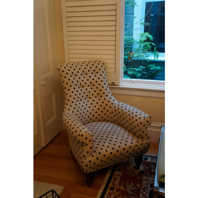 Anthropologie Brown Polkadot Astrid Chair - Image 9 of 11