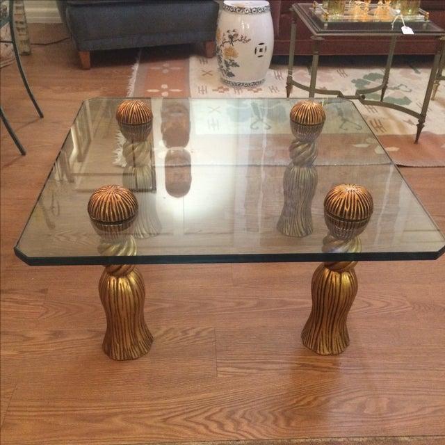 Phyllis Morris Tassel Cocktail Table - Image 3 of 8