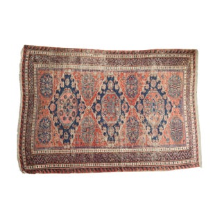 """Vintage Caucasian Sumac Carpet - 5'1"""" x 7'2"""""""