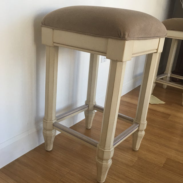 Tan Backless Counter Stools - Set of 3 - Image 4 of 5