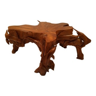 Carved Marlin Sculptural Table