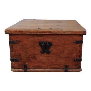 Antique Pine Storage Box