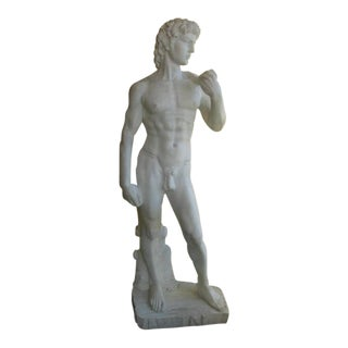 "Life Size Carrera Marble ""David"" Sculpture"