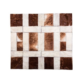 """Aydin Cowhide Patchwork Accent Area Rug - 6'0"""" x 6'7"""""""