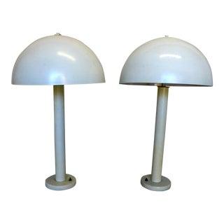 Walter Von Nessen Mid-Century Mushroom Table Lamps - A Pair