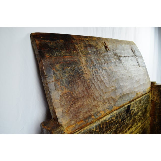 Ancient Kafiristan Wooden Dowry/Treasure Chest - Image 5 of 10