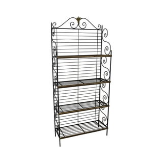 French Country Iron Baker's Rack