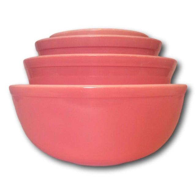 Image of 1950s Pink Pyrex Nesting Bowls - Set of 3
