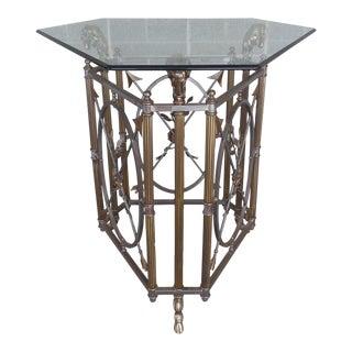 Maison Jansen Style Ram's Head Brass & Steel Center Table