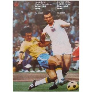 1976 Montreal Olympics Football Poster