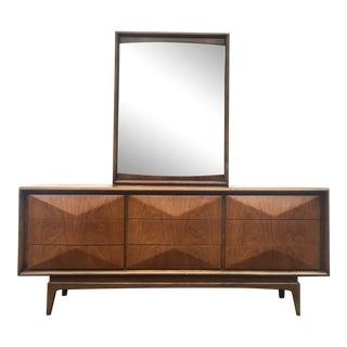 Vintage Modern Diamond Front Dresser