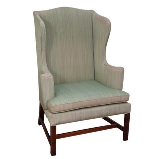 Kittinger Colonial Williamsburg Chippendale Style Mahogany Wing Chair