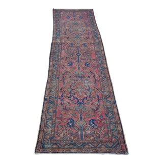 Distressed Antique Persian Runner - 2′5″ × 9′3″