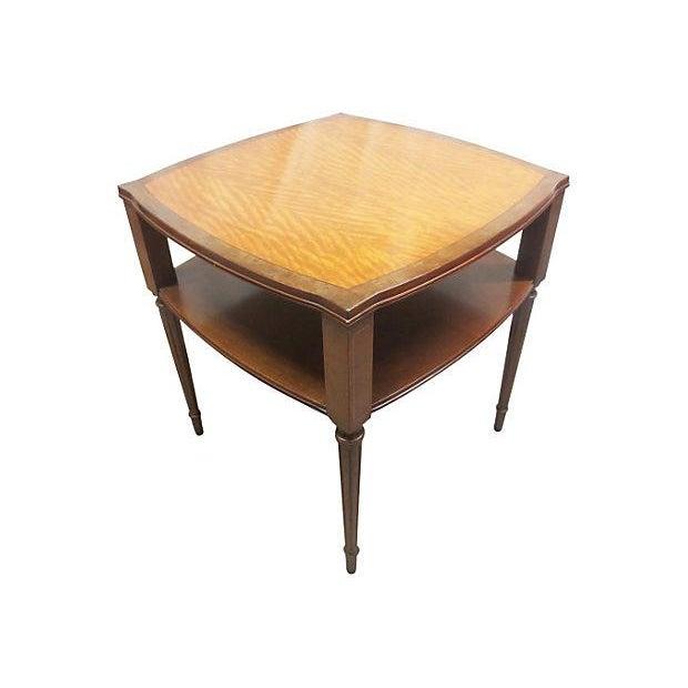 Inlaid Henredon Mahogany Side Tables - Pair - Image 2 of 8