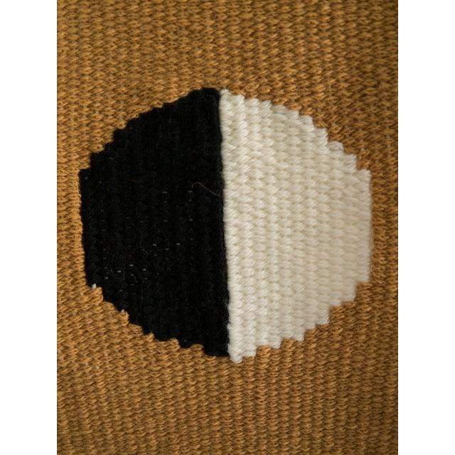 Mustard, Black, & White Woven Wall Hanging - Image 4 of 4