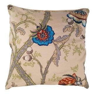 G P & J Baker Embroidered Linen Pillow
