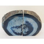 Image of Blue Geode Bookends - A Pair