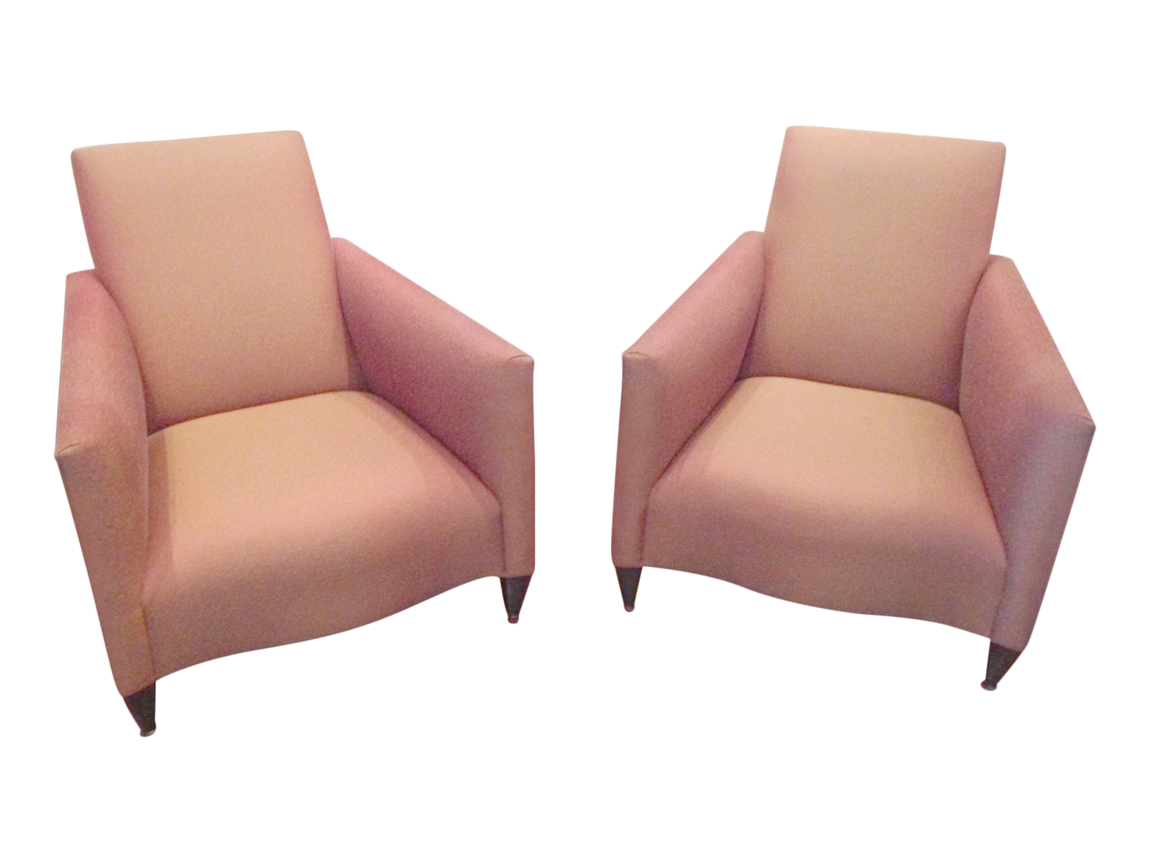Contemporary Donghia Lounge Chairs   Pair