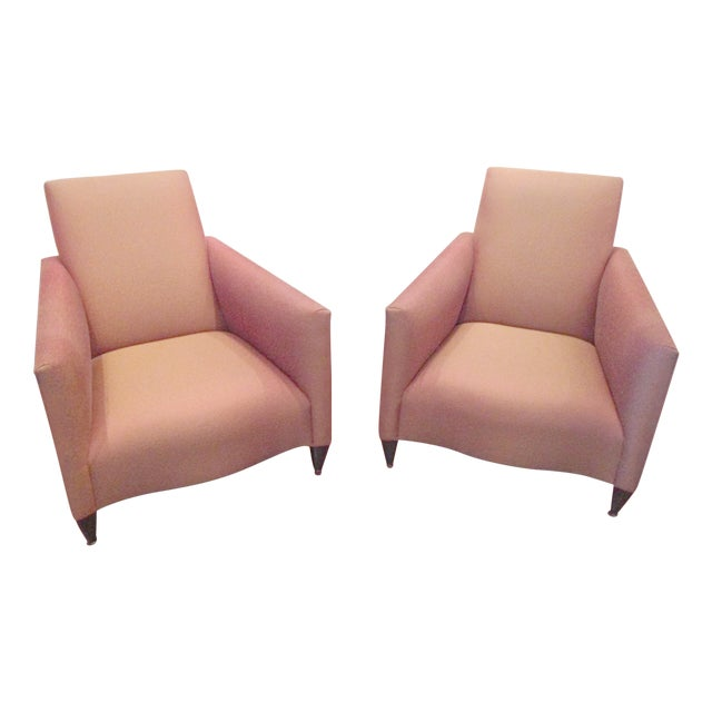 Image of Contemporary Donghia Lounge Chairs - Pair