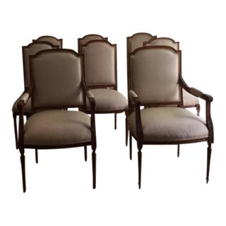 Louis Solomon Silk Dining Chairs - Set of 8