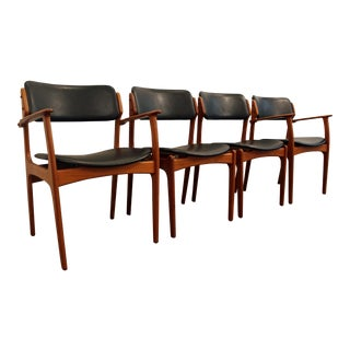 Erik Buch for O.D. Mobler Teak Dining Chairs - Set of 4