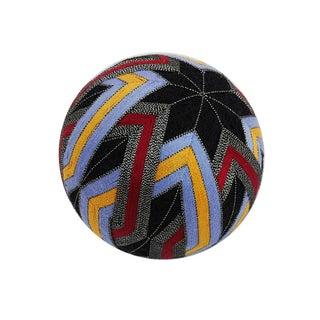 Temari Ball - Interlocking Diamond Black Star