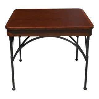 Dessin Fournir Leather Top Game Table