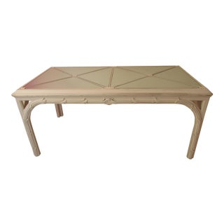 Vintage Palm Beach Style Dining Table