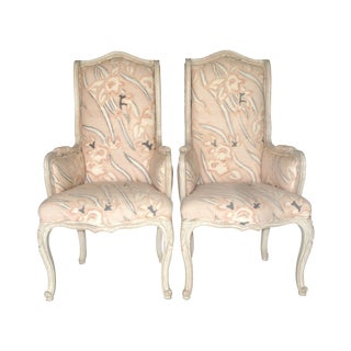 French Country High Back Bergeres - A Pair