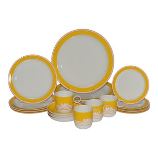 Rosenthal Ambrogio Pozzi Yellow Studio Dinner Set - Set of 20