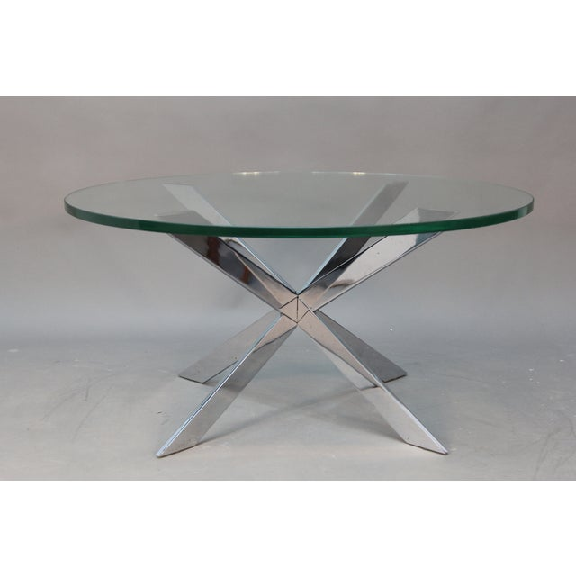 Leon Rosen for Pace Chrome Star Base Coffee Table - Image 5 of 6