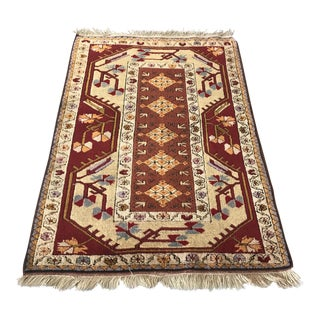 Vintage Turkish Milas Rug 3' X 5'