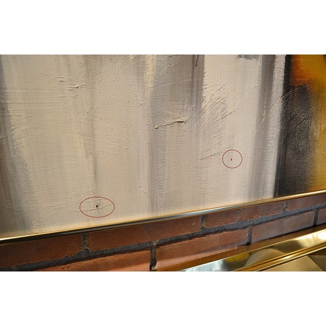 Image of Mid Century Large Signed Oil Painting by Lawson
