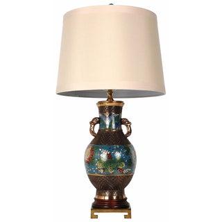 Bronze Champlevé Lamp