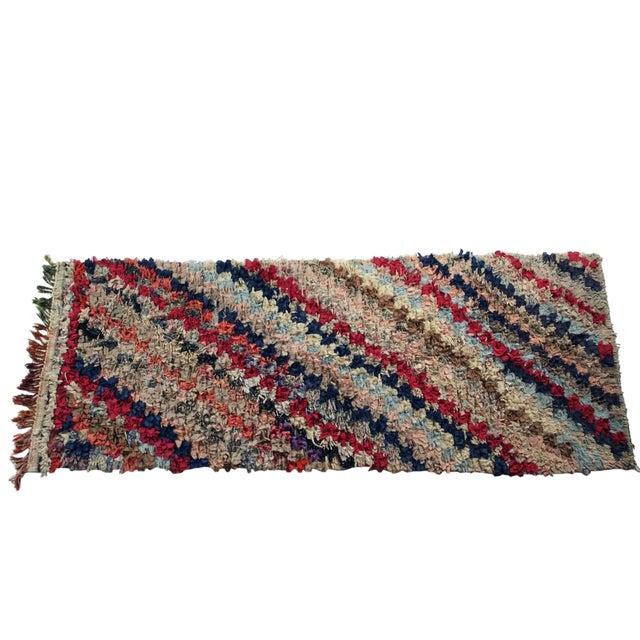 """Vintage Boucherouite Rag Rug - 3'x7'9"""" - Image 1 of 3"""