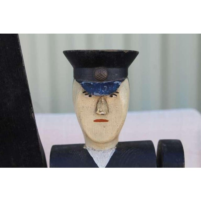 All Original Early Hand-Carved Policeman Whirligig - Image 3 of 9