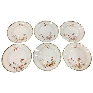 Antique Limoge France Rim Soup Bowls - Set of 6