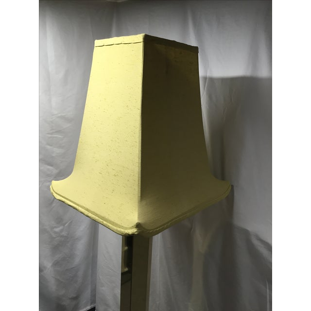 Hexagonal Brass Column Floor Lamp - Image 5 of 9