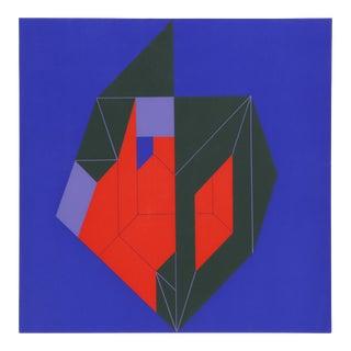 Forma Negro con Rojo en Azul by Enrique Carbajal Sebastian