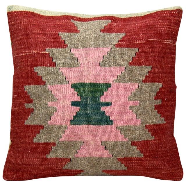 Turkish Handmade Kilim Pillow Cover - Image 1 of 4