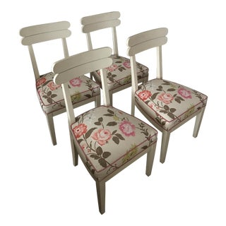 Floral Dining Room Chairs - Set of 4