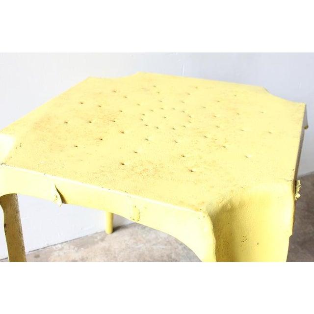 Yellow Metal Side Table - Image 4 of 4
