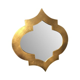 Moroccan Gold Leaf Quatrefoil Mirror