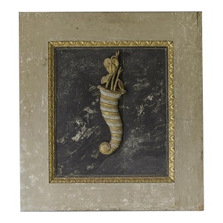 """Cornucopia"", Painted, Gilded, Carved Symbol of Abundance, Italy c.1780"