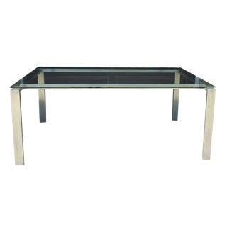 Room & Board Custom Glass Chrome Dining Table